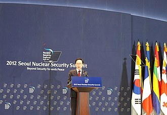 2012 Nuclear Security Summit - South Korean President Lee Myung-bak speaks to the media during a press conference after the Seoul Nuclear Security Summit at the Convention and Exhibition Center (COEX) in Seoul, South Korea, 27 March 2012.