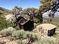 2013-06-27 10 09 23 Abandoned buildings near the old Monarch Mine on the western slopes of Spruce Mountain in Nevada.jpg