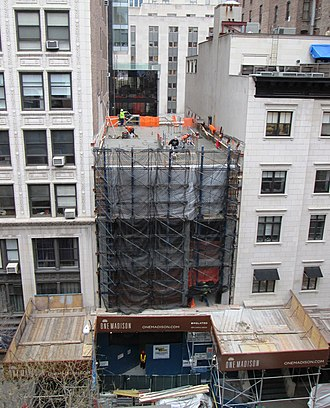 One Madison - Image: 2013 23 East 22nd Street entrance to One Madison under construction