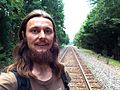 2014-06-27 Ildar Sagdejev on railroad in Durham.jpg