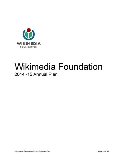 2014-15 Wikimedia Foundation Plan.pdf
