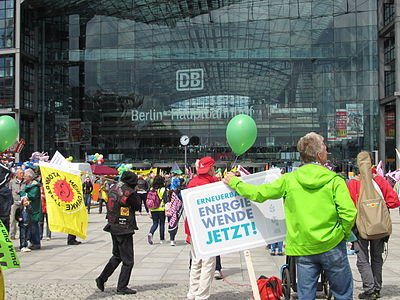 Demonstration für die Energiediät in Berlin