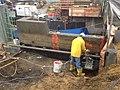 2014 04 08 Harvard Street Bridge (Medford) North Abutment Prep for Concrete Modifications looking South (14437568584).jpg