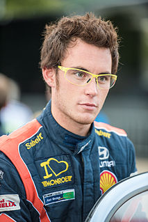Thierry Neuville Belgian rally driver