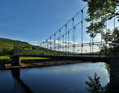 Reeth Swing Bridge in late evening light