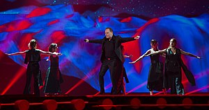 Montenegro in the Eurovision Song Contest 2015 - Knez at a dress rehearsal for the second semi-final
