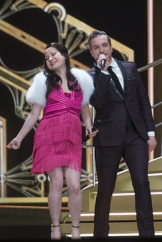 United Kingdom in the Eurovision Song Contest 2015 - Electro Velvet at a dress rehearsal for the final