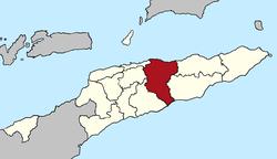 Vị trí quận Manatuto tại Đông Timor