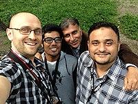 2015 wikimanians in park.jpg