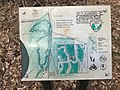 2016-03-10 13 52 30 Trail map for the northern part of Ellanor C. Lawrence Park at the intersection of the Wild Turkey Trail and North Loop Trail in Fairfax County, Virginia.jpg