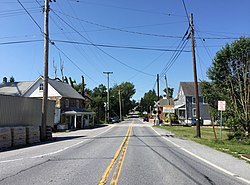 Looking south on Main Street in Lineboro, Maryland