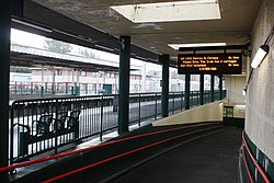 2018 at Carnforth station - platform 2 subway.JPG