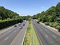 2019-07-12 10 30 25 View southwest along Interstate 495 (Capital Beltway) from the overpass for Greentree Road on the edge of Bethesda and North Bethesda in Montgomery County, Maryland.jpg