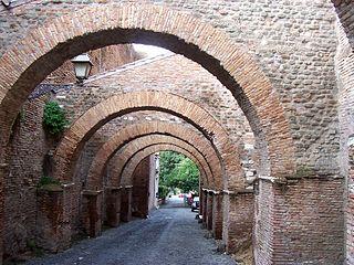 Clivus Scauri street in Rome, Italy