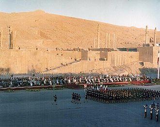 2,500 year celebration of the Persian Empire - 2,500 year celebration of the Persian Empire in Persepolis, October 1971.