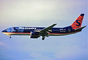 Sun Country Airlines - A Sun Country Boeing 737-800 in March 2004.