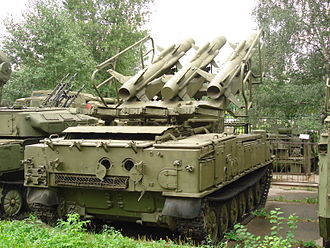 2K12 Kub - Rear view of the Kub at the Central Museum of Russian Armed Forces