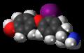 3-Iodothyronamine 3D spacefill.png