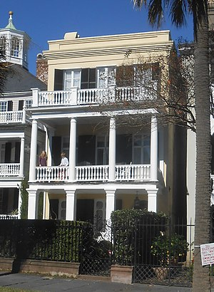 James Spear House - The James Spear House at 30 South Battery, Charleston, South Carolina