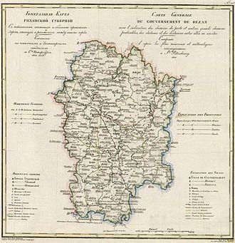 Ryazan Governorate - Image: 33 Ryazanskoi gyb 1822 g 01