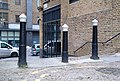 3 Posts At Head Of Steps Leading Down To Provost Street 2.jpg