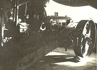 QF 4.7-inch Mk I – IV naval gun - Gun in emplacement at Anzac, Gallipoli