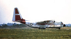 774th Expeditionary Airlift Squadron - Image: 463d Troop Carrier Wing Lockheed C 130A LM Hercules 55 031 1957