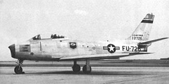 4925th Test Group - F-86E 51-2726.  Used as a chase plane for B-36 operations.   The F-86 was deemed too slow for tactical nuclear weapons delivery