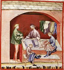 Abbigliamento in seta, tacuinum sanitatis casanatensis (XIV secolo)