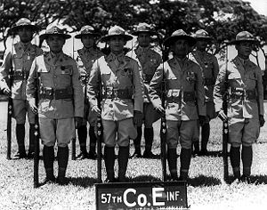 57th Infantry Regiment (United States) - Soldiers of the regiment's Company E in 1938.