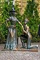 80-391-0350 Пам'ятник персонажам п'єси М. Старицького «За двома зайцями».jpg