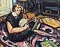 81 - Luce au banjo dans le salon à Rabastens - Georges Gaudion vers 1924 Huile sur toile - Musée du Pays rabastinois inv.2014.27.1.jpg