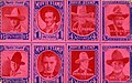 8 stamp images of Motion Picture actors, William Desmond, Pete Morrison, Peewee Holmes, Jack... (NBY 1388).jpg