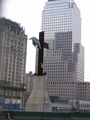 A cross at Ground Zero.