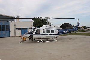 9A-HBM Bell 212 of the Croatian Police at its Lucko base.jpg