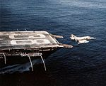 A-4C of VA-12 launching from USS Shangri-La (CVA-38) 1970.jpg