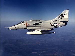 A-4E Skyhawk from VA-45 in flight in 1972.jpg