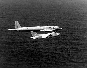 VFA-27 - A VA-27 A-7E intercepts a Soviet Il-38 in 1981
