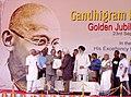 A.P.J. Abdul Kalam presenting a citation to Padma Vibhushan Shri Adoor Gopalakrishnan, an alumnus of the Gandhigram Rural Institute at a function held at Gandhigram Rural University in Tamil Nadu on September 23, 2006.jpg
