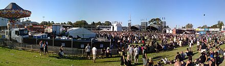Panorama of Steel Blue Oval during Soundwave, 2010. AFI @ Soundwave festival Perth panorama (4398207740).jpg