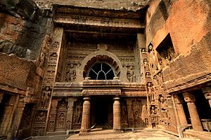 Indian rock-cut architecture - Cave 19, Ajanta, a 5th-century chaitya hall