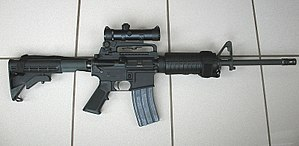 Colt AR-15 A3 Tactical Carbine. Used by counte...