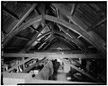 ATTIC, VIEW OF ROOF TRUSS - Second Tompkins County Courthouse, 121 East Court Street, Ithaca, Tompkins County, NY HABS NY,55-ITH,7-5.tif