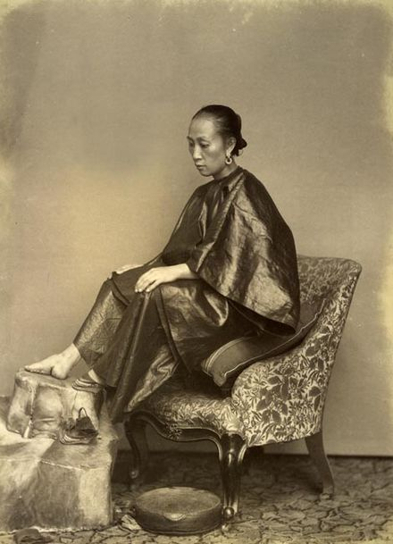 Woman with bound feet, 1870s A Chinese Golden Lily Foot, Lai Afong, c1870s.jpg