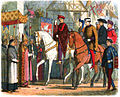 A Chronicle of England - Page 375 - Charles and Henry Welcomed by the Clergy at Paris.jpg