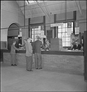 Ministry of Labour (United Kingdom) - Labour Exchange Reading, Berkshire, UK during second world war