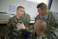 A U.S. Army noncommissioned officer, right, discusses tactical techniques with Croatian soldiers during exercise Immediate Response 2013 in Zagreb, Croatia, Aug. 25, 2013 130825-A-WB953-179.jpg