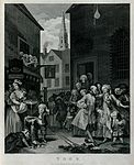 A church and a tavern are contrasted, just as the pious chur Wellcome V0049294.jpg