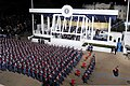 A formation from the Virginia Military Institute passes the presidential reviewing stand at the White House in Washington, D.C., during military support for the 57th presidential inauguration 130121-N-VI104-003.jpg