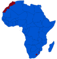A map of Africa exhibiting the continent's monarchies (red) and republics (blue).png
